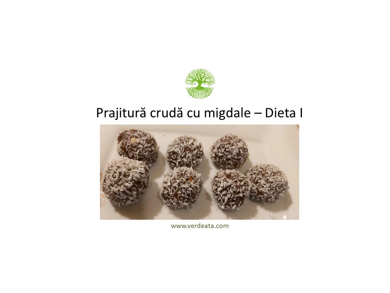 Prăjitură crudă cu migdale - Dieta I