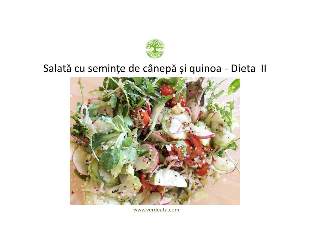 Salata cu seminte de canepa si quinoa - Dieta II