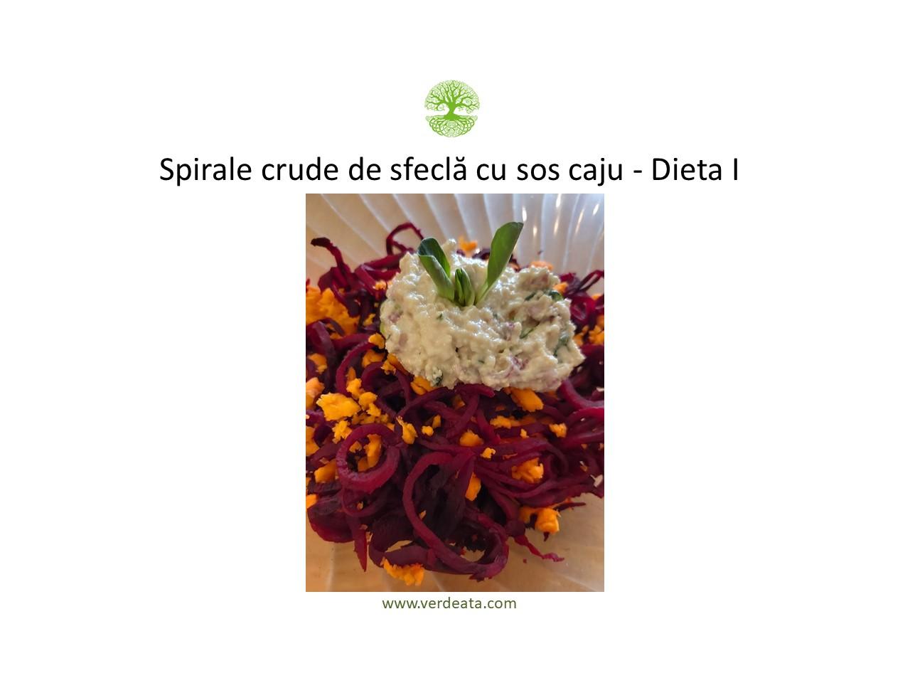 Spirale de sfecla cruda cu sos caju - Dieta I