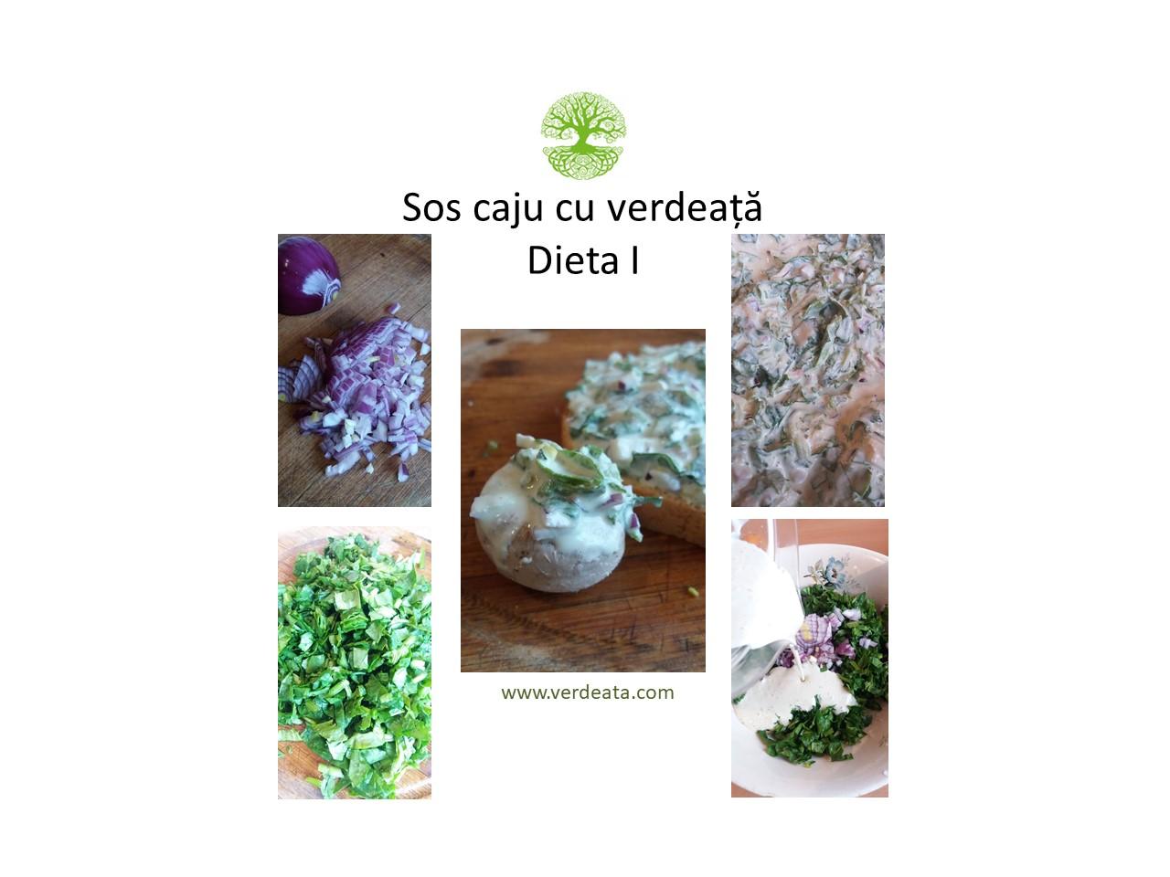Sos caju cu verdeata - Dieta I
