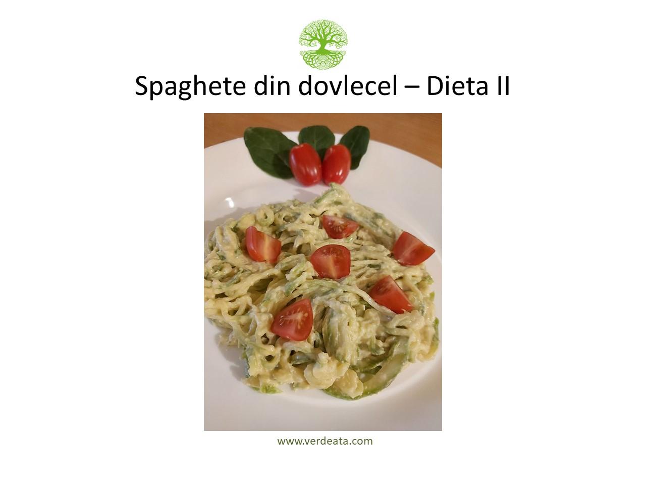 Spaghete din dovlecel (crud) cu sos caju - Dieta I