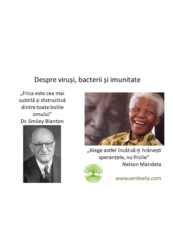 Despre viruși, bacterii, frica și imunitate