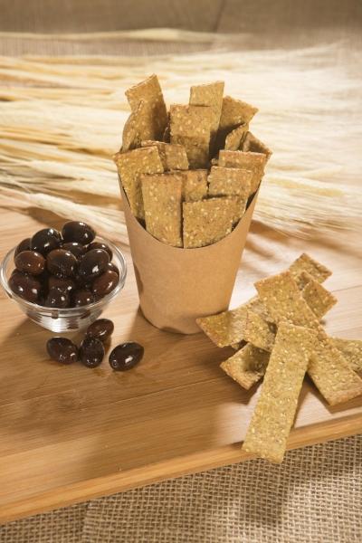 Crackers cu masline kalamata, 125g 1