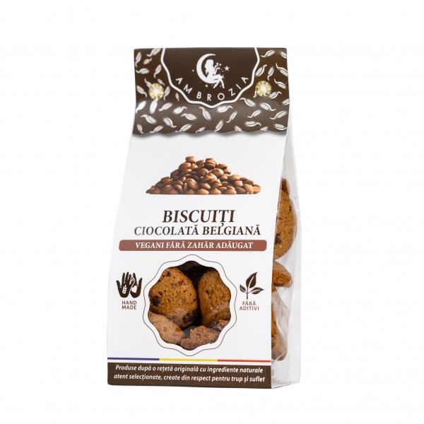 Biscuiti cu ciocolata naturala, 150G 0