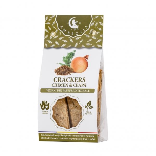 Crackers cu chimen si ceapa, 125g 0