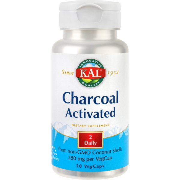 Activated Charcoal - carbune activat, 50cps 0