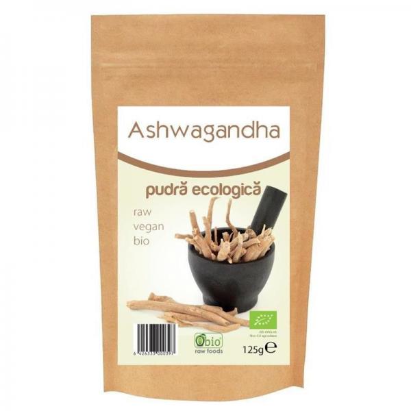 Ashwagandha pulbere bio, 125g 0