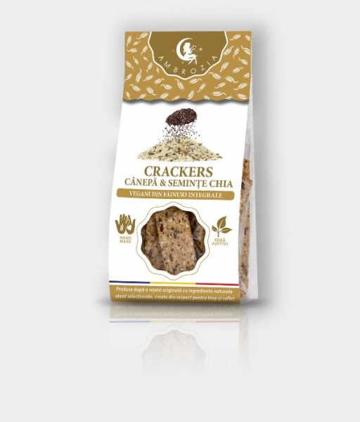 Crackers cu seminte de canepa, in si chia, 125g 0