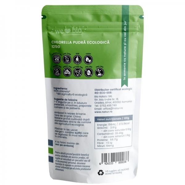 Chlorella pulbere bio, 125g 1