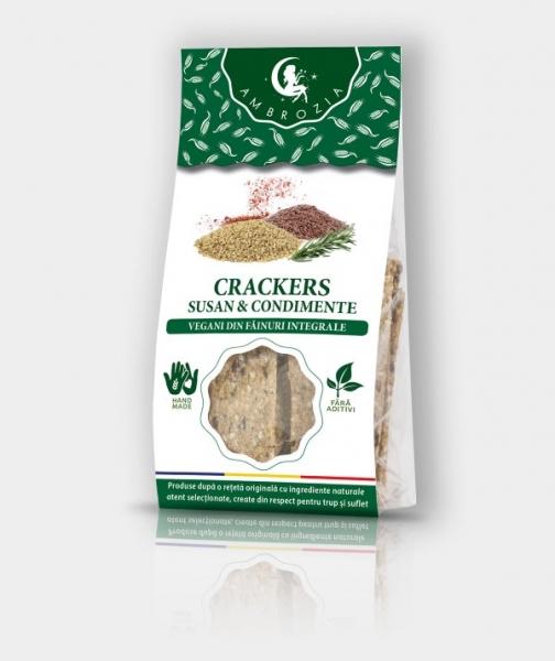 Crackers cu susan si condimente, 125G 0