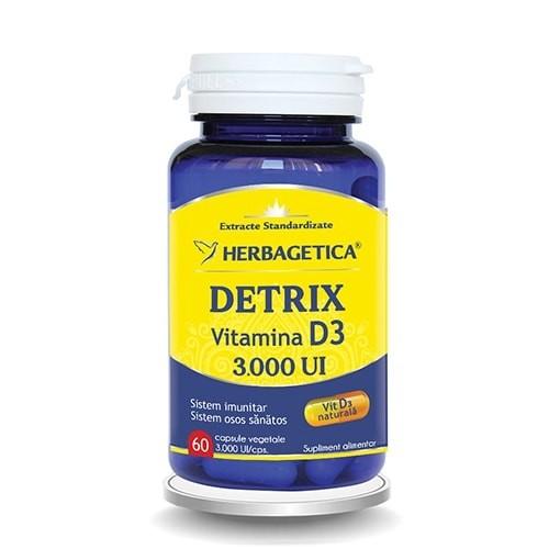 Detrix Vitamina D3 3000 U.I., 60cps 0