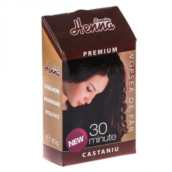 Henna Sonia Premium 30 minute castaniu 60g 0