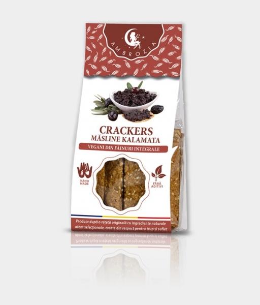 Crackers cu masline kalamata, 125g 0