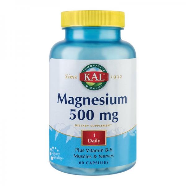 Magneziu - Magnesium 500mg, 60cps 0