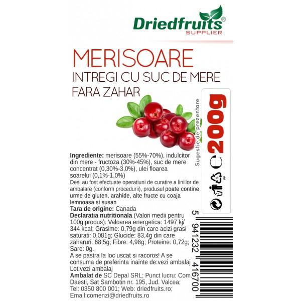 Merisoare intregi cu suc de mere, 200g 1