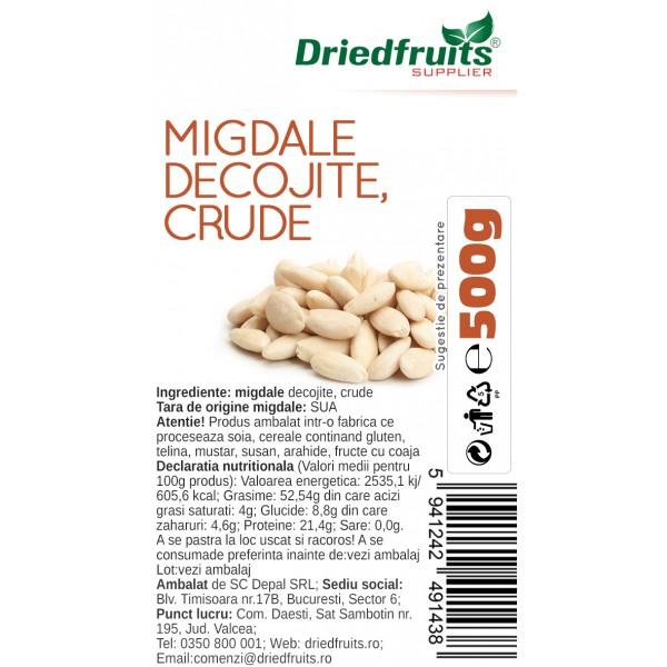 Migdale decojite crude, 500g [1]