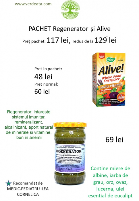 Pachet Alive! 30 tablete + Regenerator [0]