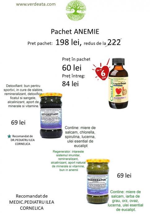 Pachet anemie - Regenerator, Detoxifiant, Liquid Iron [0]