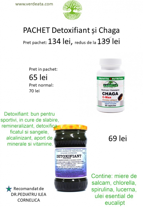 Pachet Chaga C-max + Detoxifiant [0]