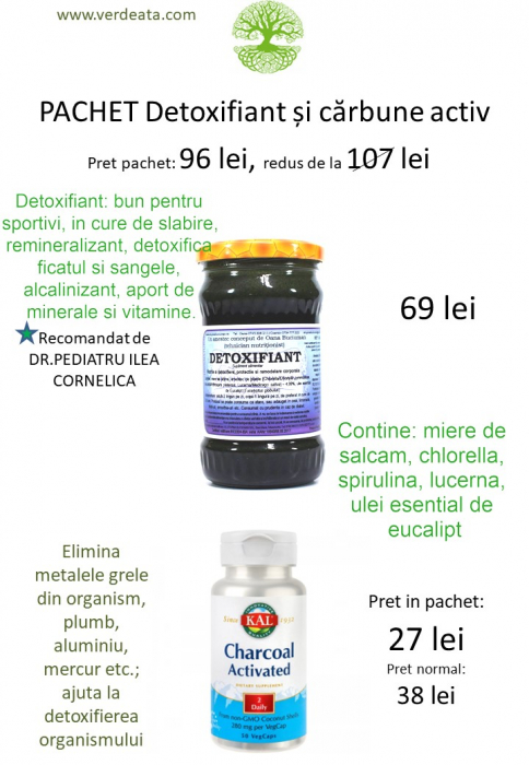 Pachet Charcoal Activated + Detoxifiant (carbune activat) [1]
