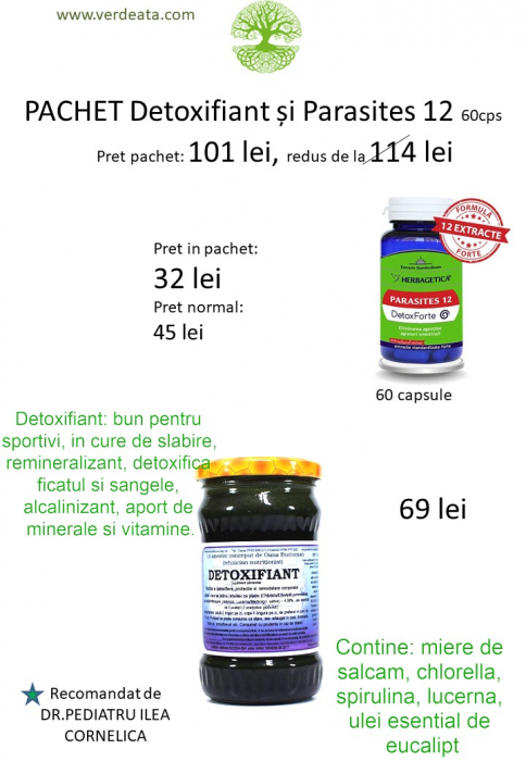 Pachet Parasites 12 - 60cps + Detoxifiant [0]