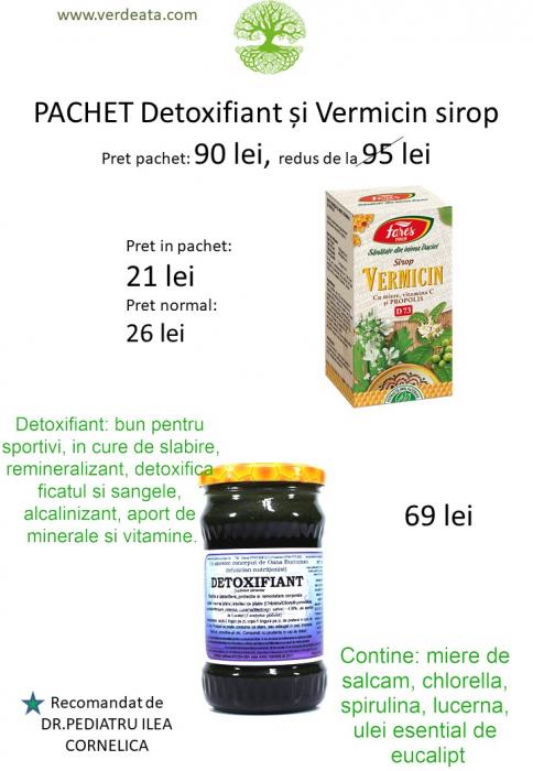 Pachet Vermicin sirop pentru copii + Detoxifiant [0]