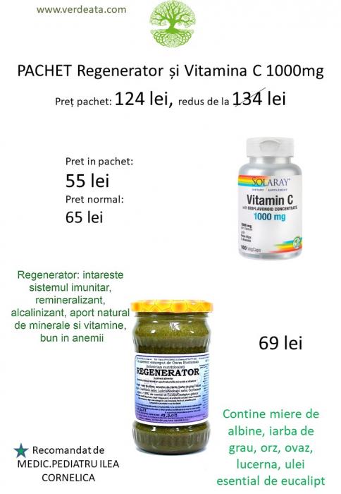 Pachet Vitamina C 1000mg + Regenerator [0]