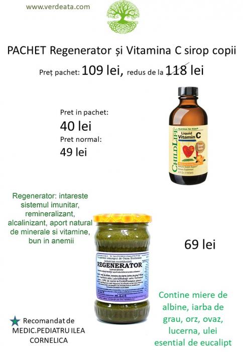 Pachet Vitamina C 250mg (copii) sirop + Regenerator [0]
