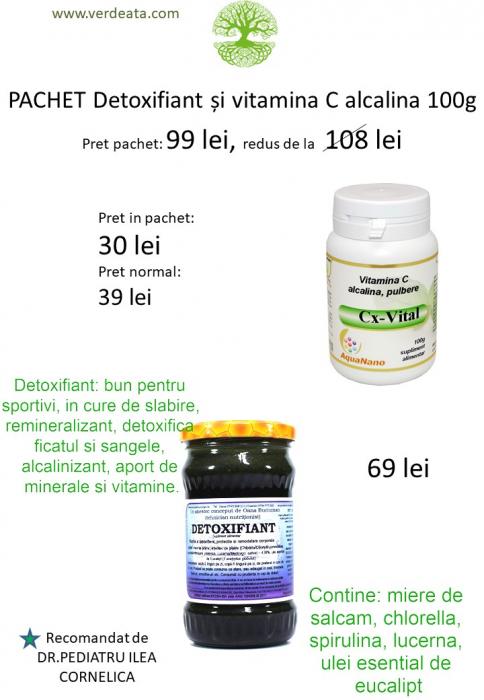 Pachet Vitamina C alcalina 100g + Detoxifiant [0]