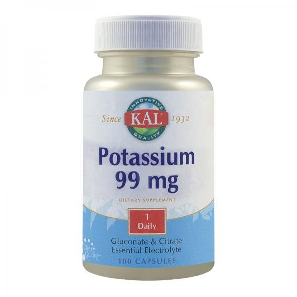 Potassium 99mg, potasiu, 100cps 0