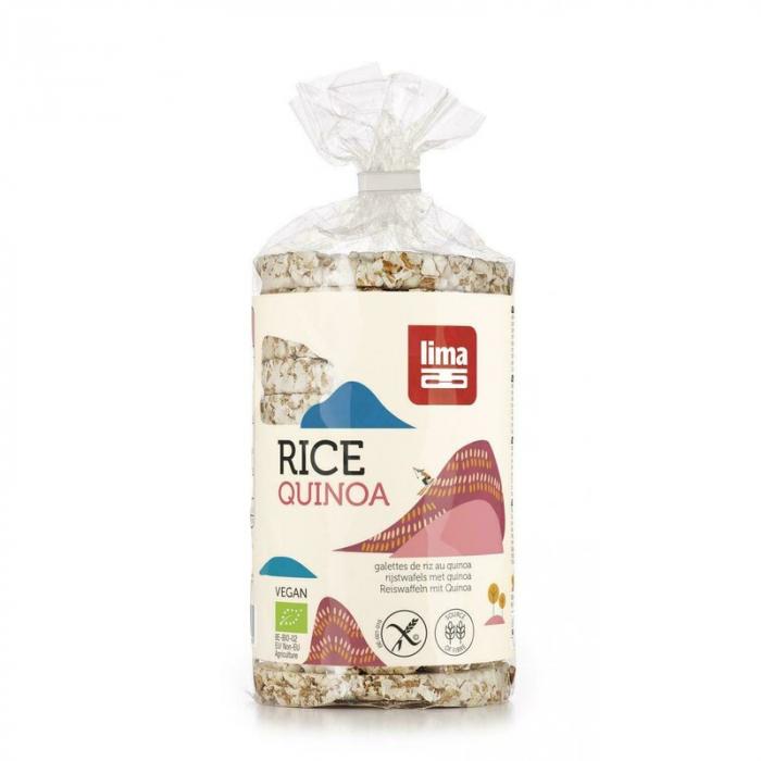 Rondele de orez expandat cu quinoa eco, 100g [0]