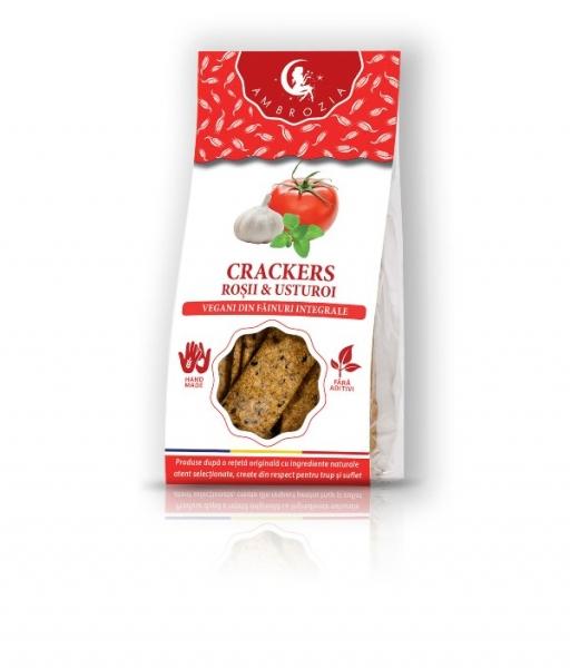Crackers cu rosii si usturoi, 125g 0