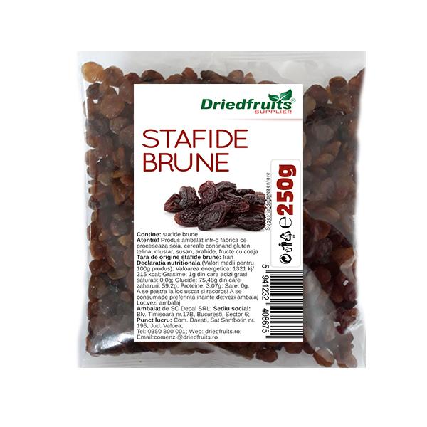 Stafide brune deshidratate, 250g [0]