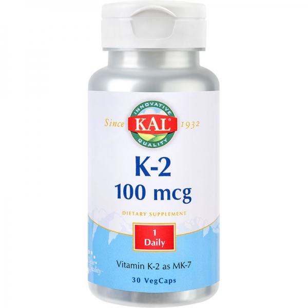 Vitamina K 2 100mcg, 30cps 0