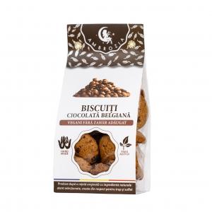 Biscuiti cu ciocolata naturala, 150G0