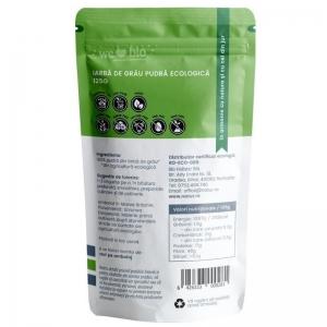 Iarba de grau pulbere bio, 125g1