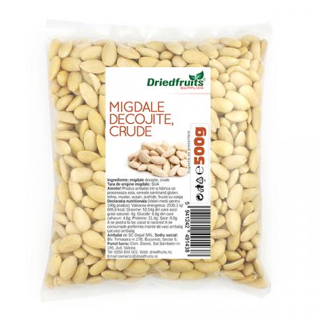 Migdale decojite crude, 500g [0]
