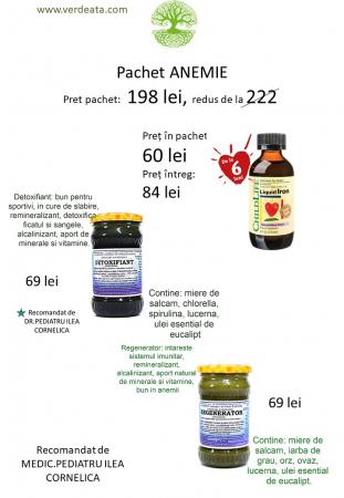 Pachet anemie - Regenerator, Detoxifiant, Liquid Iron [1]