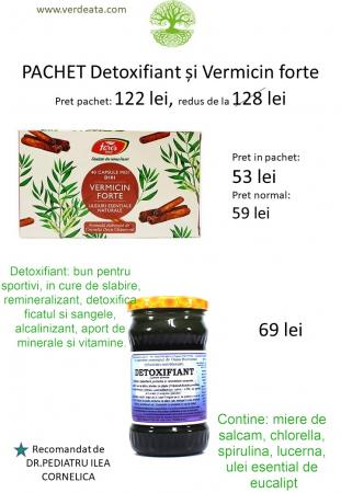 Pachet Vermicin forte + Detoxifiant [1]