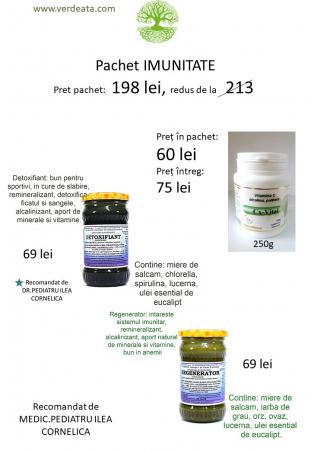 Pachet Vitamina C alcalina 250g + Regenerator + Detoxifiant [0]