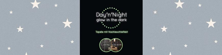 Tapet Day'n'Night - Glow in the dark
