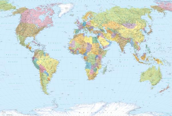 Fototapet XXL4-038 Harta politica a lumii [0]