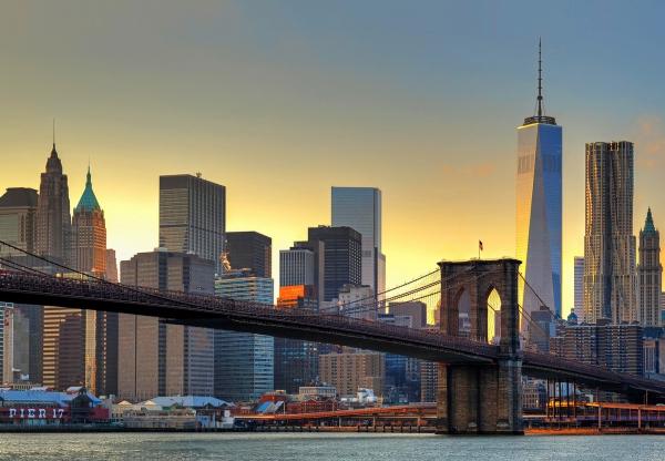 Fototapet 00148 Podul Brooklyn la apus [0]
