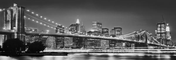 Fototapet XXL2-320 Brooklyn Bridge alb negru [0]
