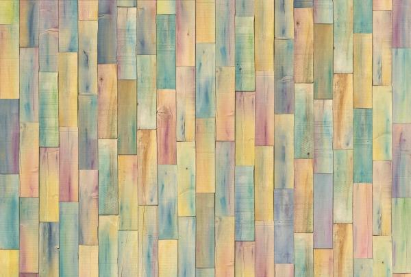 Fototapet XXL4-028 Lambriuri colorate [0]