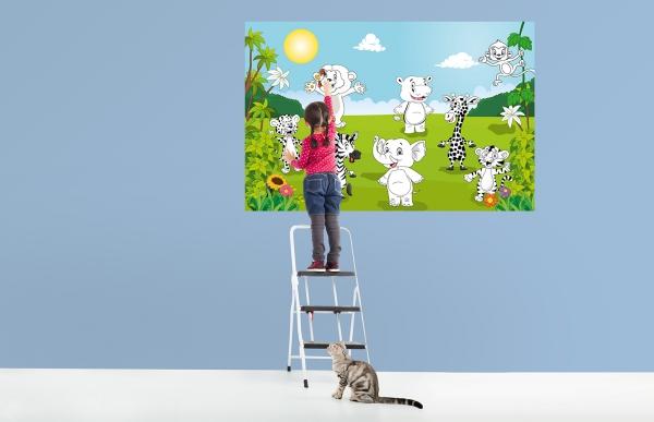 Fototapet 00605 Animale fericite Color it yourself [2]