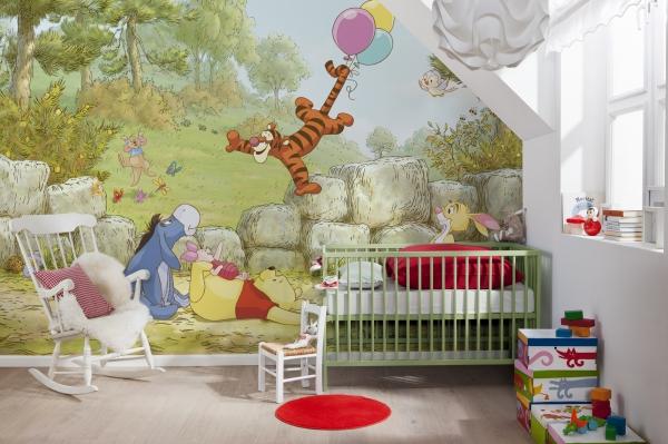 Fototapet 8-460 Winnie Pooh Ballooning [1]