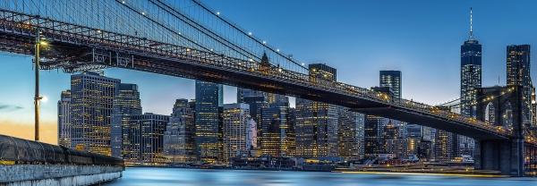 Fototapet 00863 Blue Hour over NY [0]