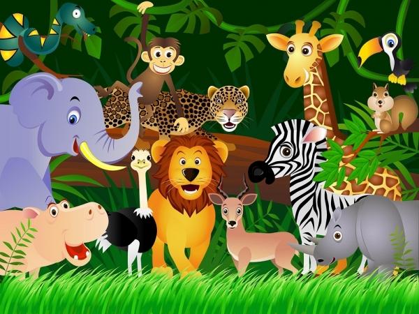 Fototapet FTS 1307 Animalele junglei 0