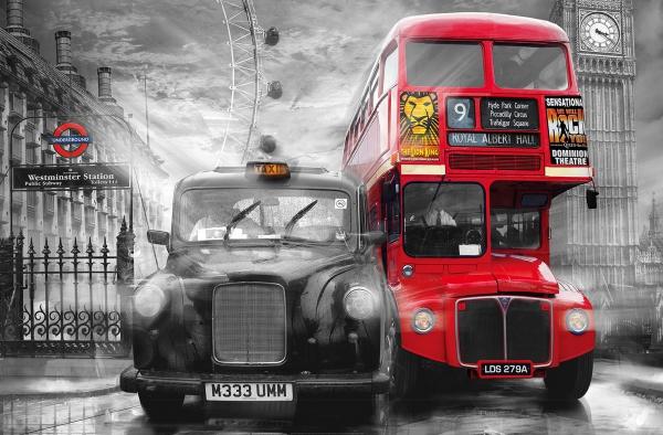 Fototapet 00698 Taxi si autobus in Londra [0]